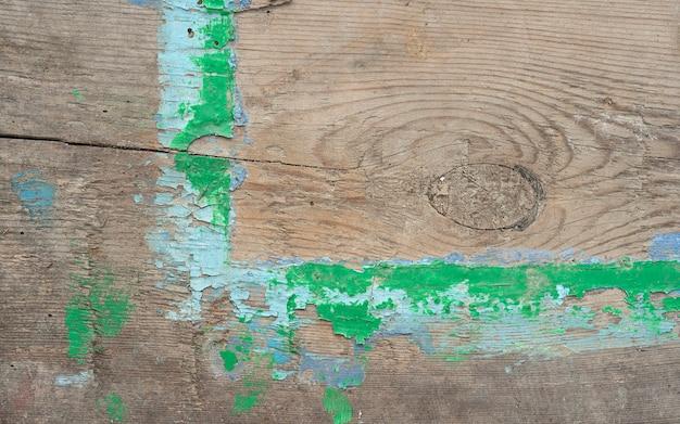 스키드의 오래된 매크로 보기에서 버려진 회수 보드