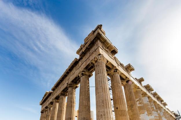 Реконструкция парфенона в афине, греция
