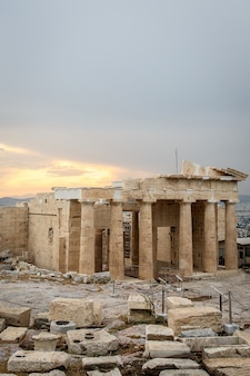 Reconstruction of parthenon temple in acropolis.