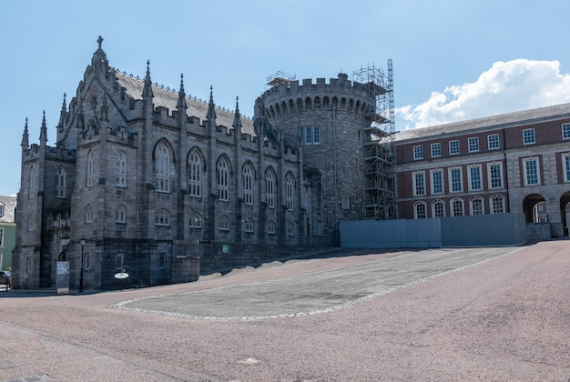 Record tower and chapel royal of dublin castle. summer 2021 ,dublin.