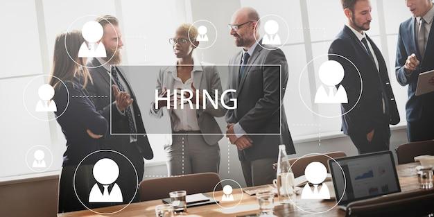 Recruitment hiring career job emplyment concept