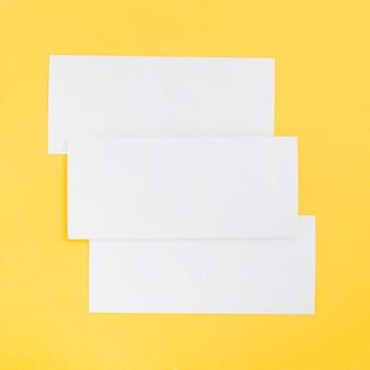 長方形のパンフレットの形