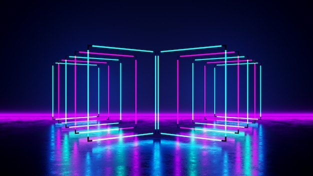 Rectangle neon light
