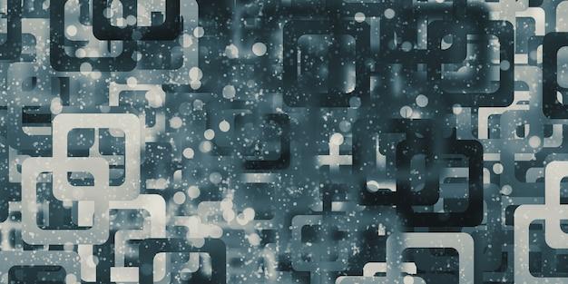 곡선 된 모서리가있는 직사각형 배경 모자이크 기하학적 패턴 흐림 효과