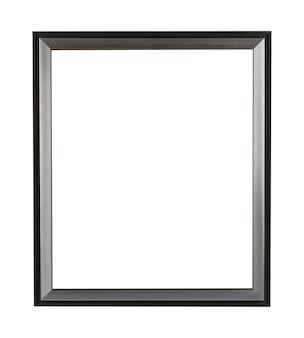 흰색으로 격리된 그림이나 그림을 위한 직사각형 금속 프레임
