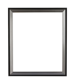 Rectangular metal frame for painting or picture isolated on a white