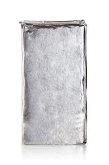 Rectangular packaging foil