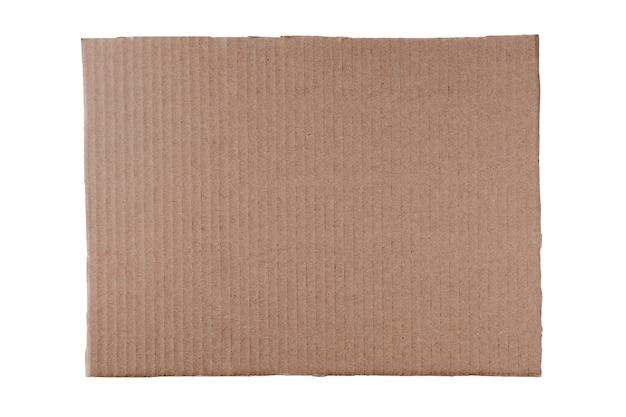 Прямоугольный лист бумаги для надписей и слоганов с изогнутыми краями и чистой поверхностью, изолированный на чистом белом фоне.