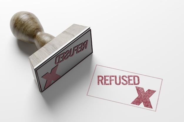 Rectangular stamp- 3d rendering