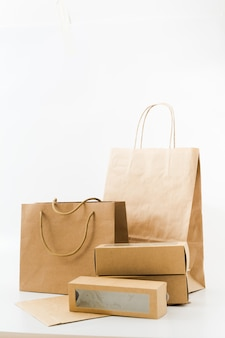 Recyclable paper bags and boxes