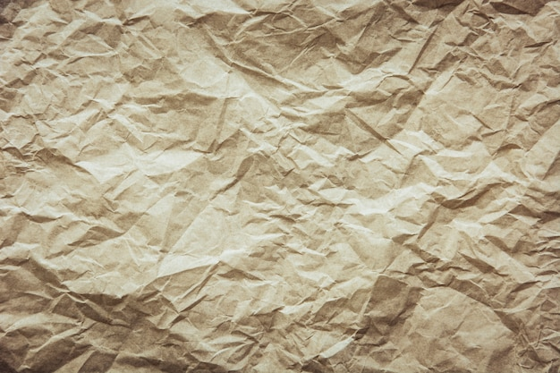 Recycle brown crumpled paper texture for background