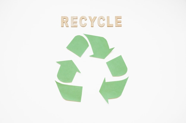 Recycle characters with green logo