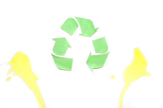 Recycle logo with oil sports