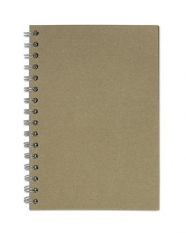 Recycle paper notebook isolated