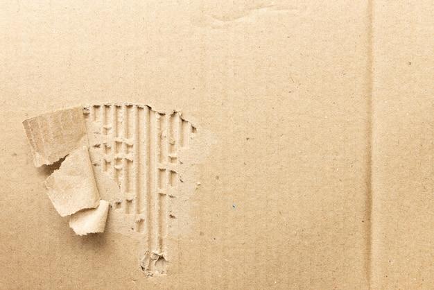 紙のテクスチャ段ボールの背景をリサイクル