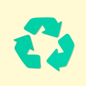 Riciclare l'elemento del mestiere della mano dell'ambiente della carta simbolo