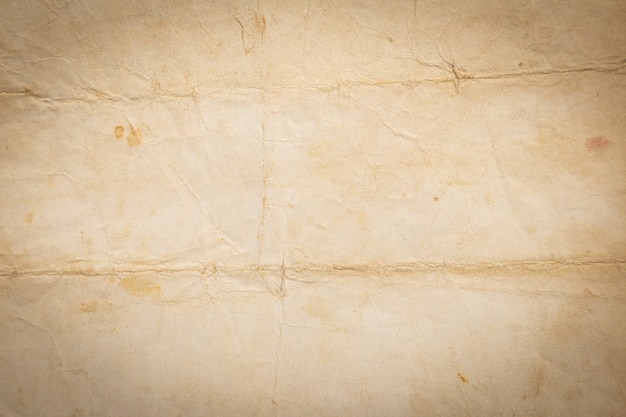 Recycled crumpled brown paper texture or paper
