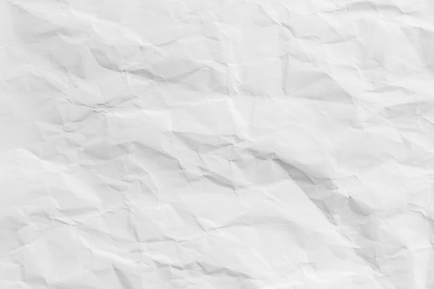 Recycled crumpled white paper texture background