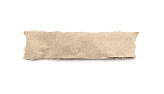 Recycled paper craft stick on a white background.
