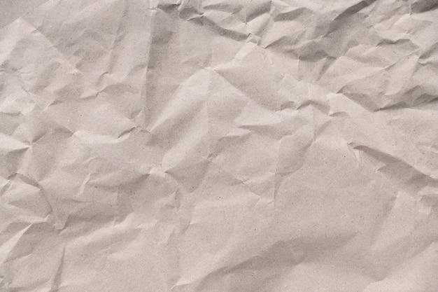 再生紙、しわくちゃの茶色の紙のテクスチャ背景