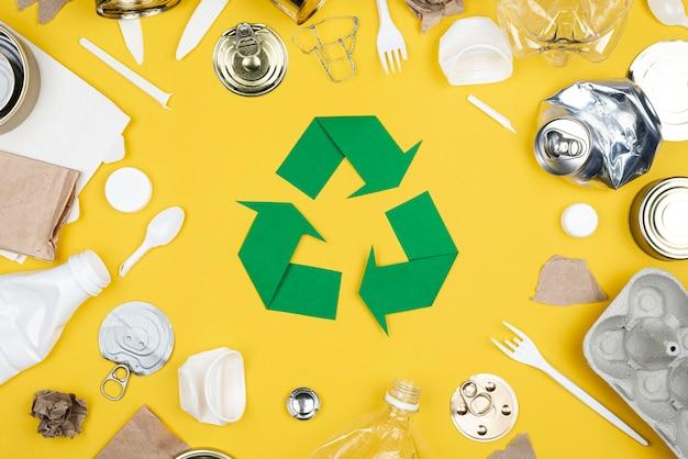 Вид сверху концепции переработки