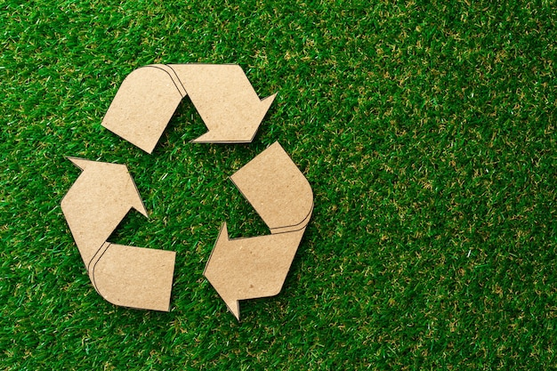 골 판지 재활용 기호 재활용 에코 개념