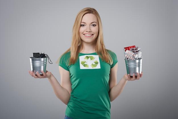 Il riciclaggio dei piccoli rifiuti è importante per il nostro pianeta