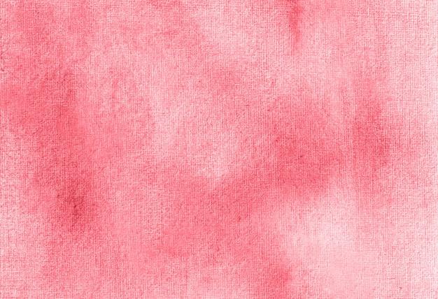 赤抽象パステル水彩手描き背景テクスチャ。