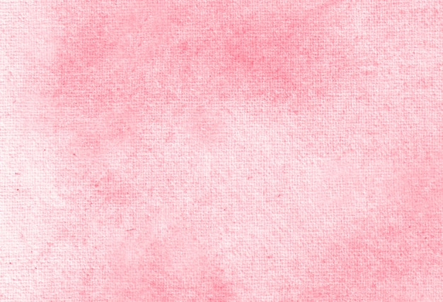 Red abstract pastel watercolor hand painted background texture.