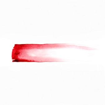 赤い抽象的な水彩画の線