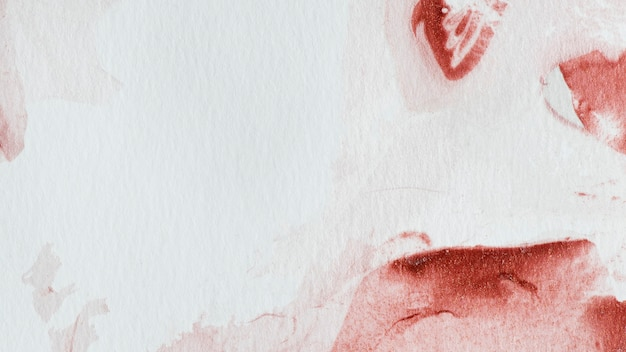 Red abstract watercolor painting background