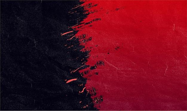 Canva에 적합한 빨간색과 검은색 브러시 획 배너 배경