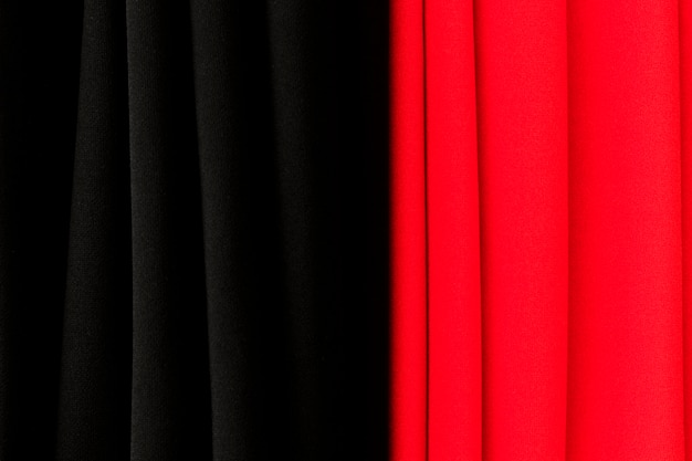 빨간색과 검은 색 커튼 질감 배경