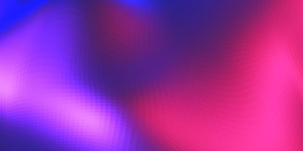 赤と青のグラデーションメッシュから虹色へ抽象的な波のぼかし