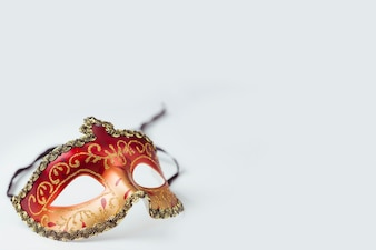Red and golden carnival mask