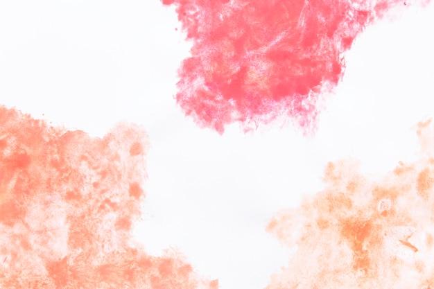 赤とオレンジの雲の形