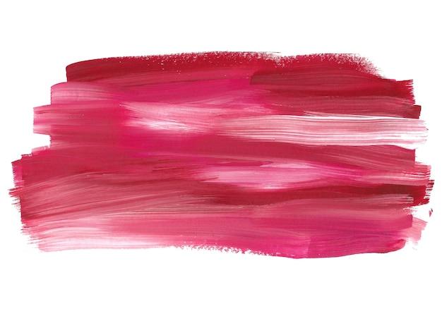 白で隔離される図面の赤と白のブラシ ストローク Premium写真