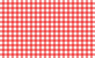 Red and white tablecloth pattern