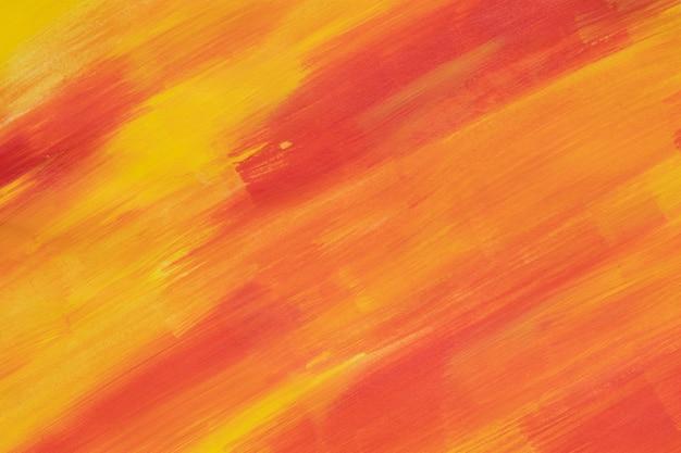 赤と黄色のペイントストローク