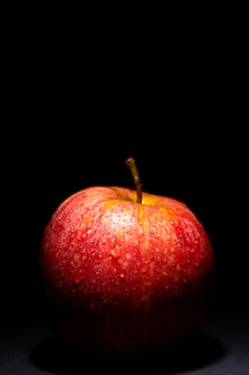 Red apple alone