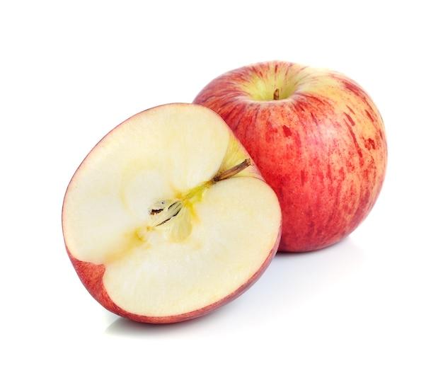 빨간 사과 흰 배경에 고립