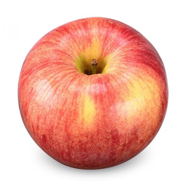 白いクリッピングパスで分離された赤いリンゴ