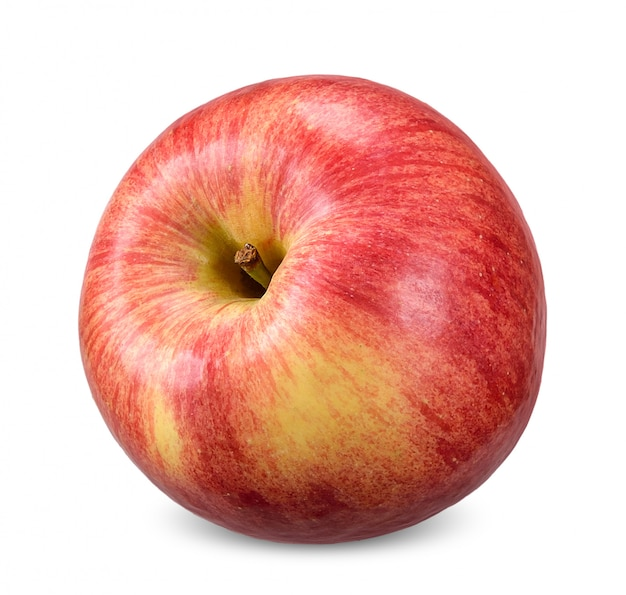 Red apple isolated on white clipping path
