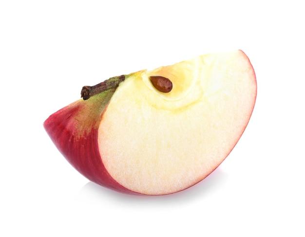 分離された赤いリンゴの部分