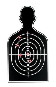 Красная стрелка на контуре изображение профиля, концепция бизнеса