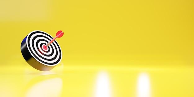 Красные стрелки достигают центральной цели. мишень для дартса. цель бизнеса. бизнес-концепция успеха. 3d рендеринг