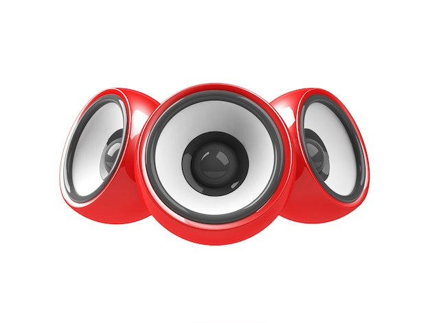 Red audio system isolated