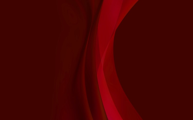 Red background, abstraction with smooth lines.