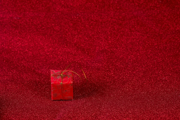 Red background image and gift box valentine's day concept