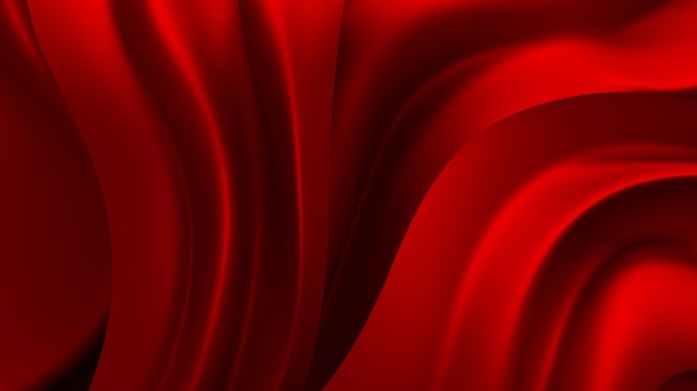 Red background with drapery fabric. 3d illustration, 3d rendering.